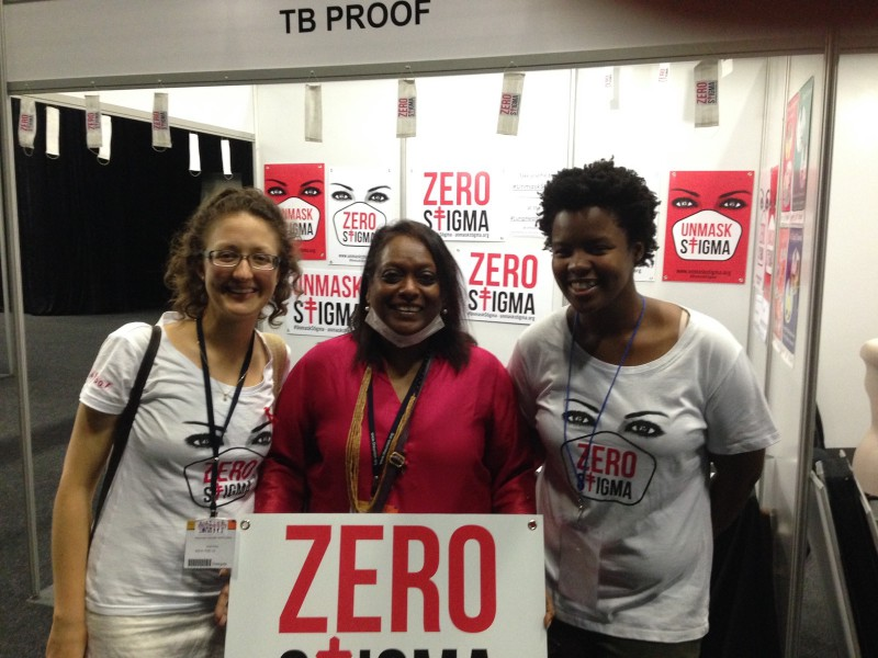 Blessi with members of TB Proof Cape Town Dec 2015