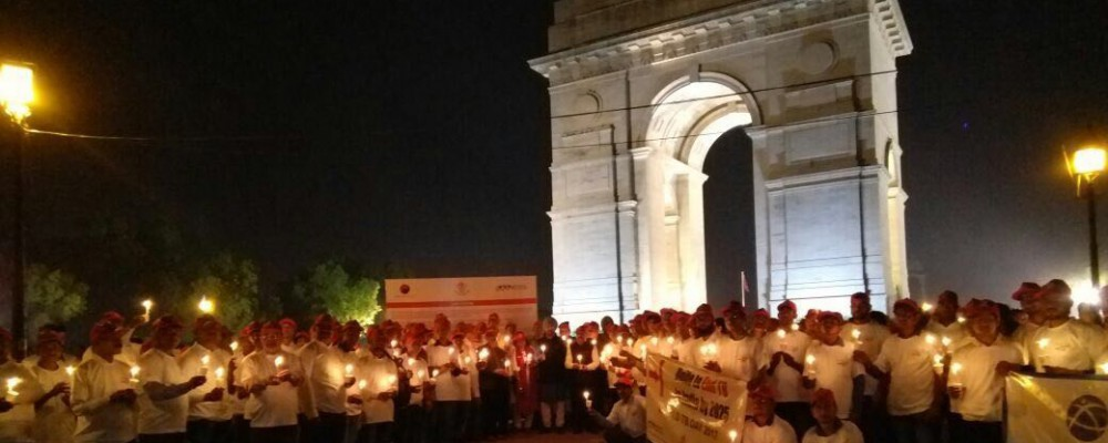 Mar 23 – World TB Day Event – Candle Light Vigil held at India Gate in memory of the lives lost to TB
